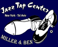 Jazz Tap Center - New York / Tel Aviv; Logo